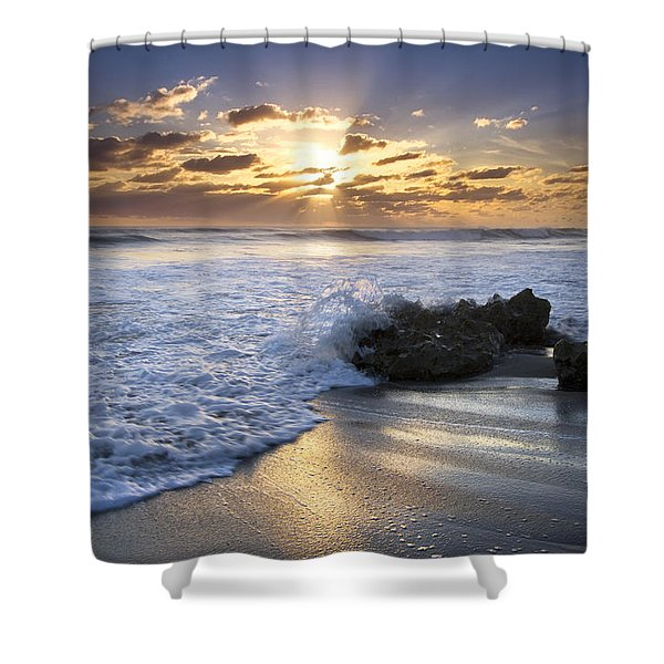 Catching The Light Shower Curtain by Debra and Dave Vanderlaan