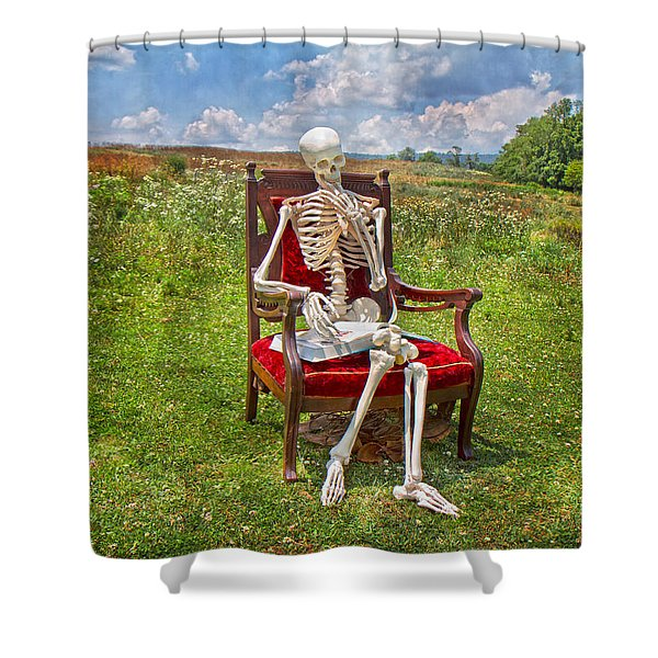 Catching up on Human Anatomy and Physiology Shower Curtain by Betsy C  Knapp