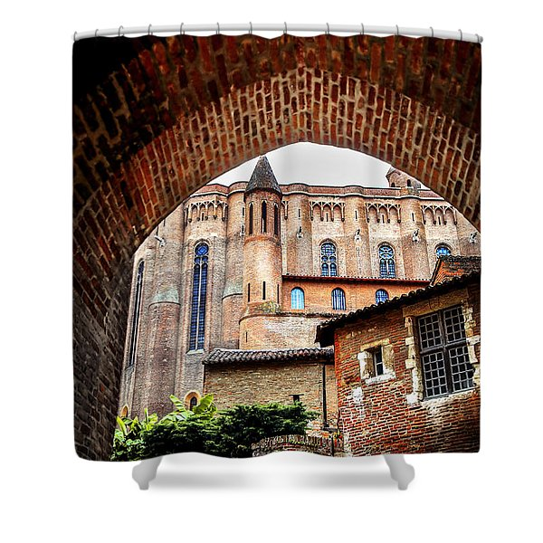Cathedral of Ste-Cecile in Albi France Shower Curtain by Elena Elisseeva