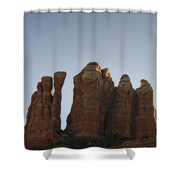 Cathedral Rock Spires Shower Curtain by Dave Gordon