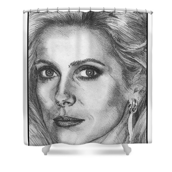 Catherine Deneuve in 1976 Shower Curtain by J McCombie