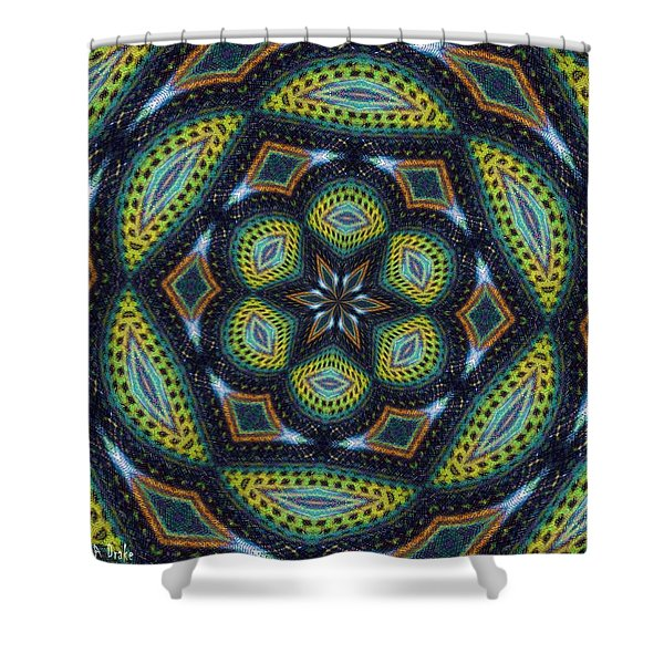 Cats Eye Marble Shower Curtain by Alec Drake