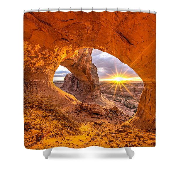 Cave Arch Shower Curtain by Dustin  LeFevre