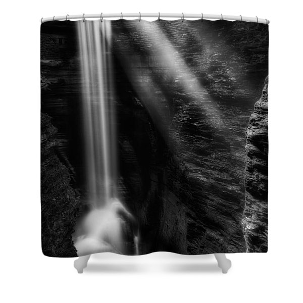 Cavern Cascade Shower Curtain by Bill  Wakeley