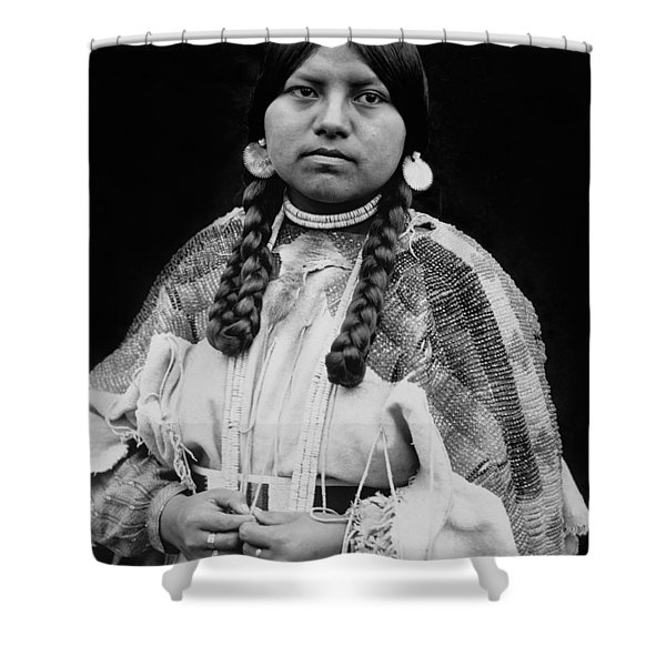 Cayuse woman circa 1910 Shower Curtain by Aged Pixel