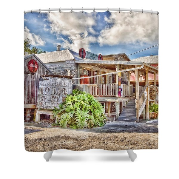 Cecil's Grocery Shower Curtain by Scott Pellegrin