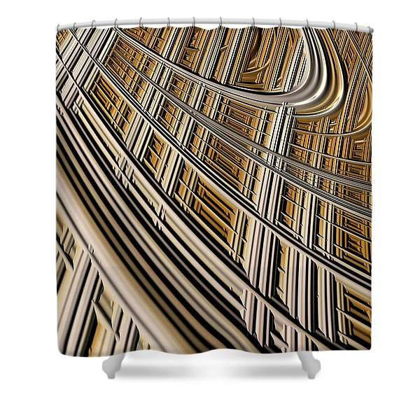 Celestial Harp Shower Curtain by John Edwards