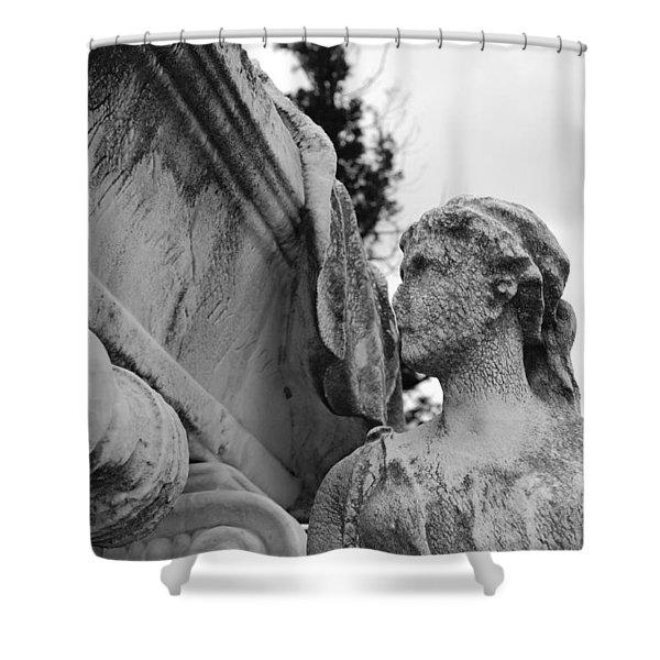 Cemetery Gentlewoman Shower Curtain by Jennifer Lyon