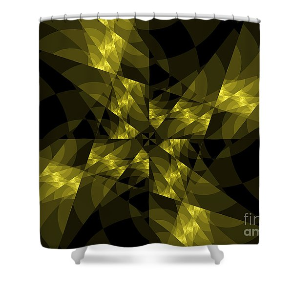 Center Square Shower Curtain by Elizabeth McTaggart