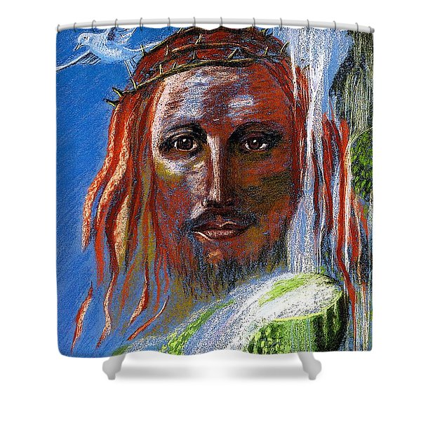 Chalice Of Life Shower Curtain by Jane Small