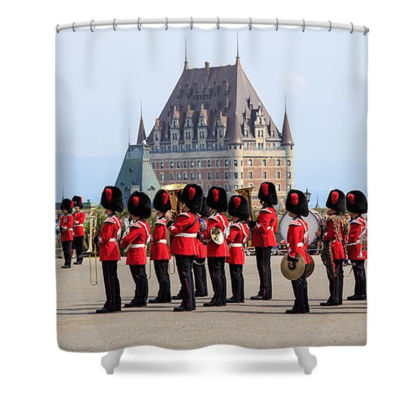 Changing Of The Guard The Citadel Quebec City Shower Curtain by Edward Fielding