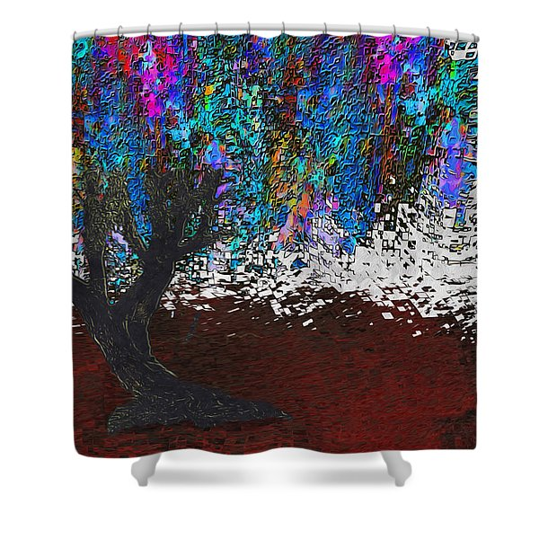Changing Tree Shower Curtain by Jack Zulli