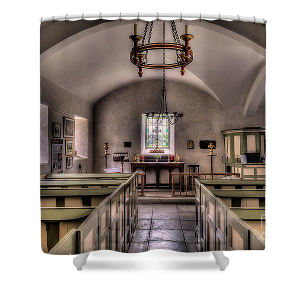 Chapel In Wales Shower Curtain by Adrian Evans