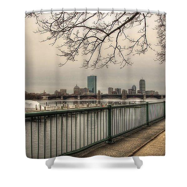 Charles River Charlesgate Yacht Club Shower Curtain by Joann Vitali