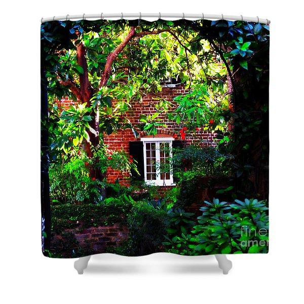 Charleston's Charm And Hidden Gems Shower Curtain by Susanne Van Hulst