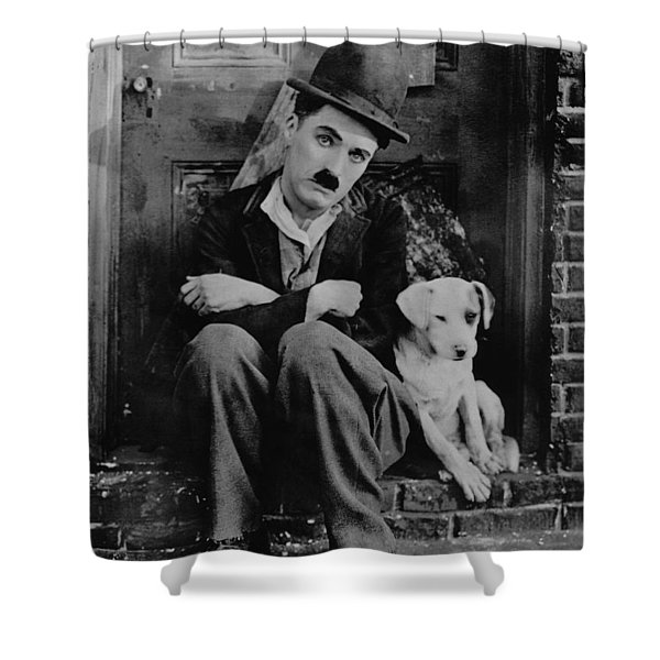 Charlie Chaplin Shower Curtain by Gianfranco Weiss