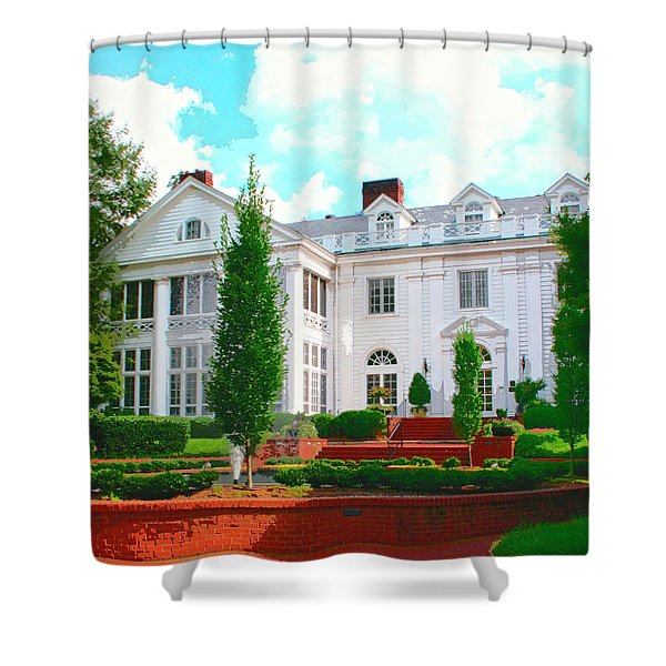 CHARLOTTE ESTATE Charlotte NC Shower Curtain by William Dey