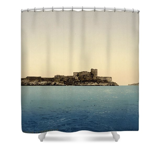 Chateau D'if Shower Curtain by Nomad Art And  Design