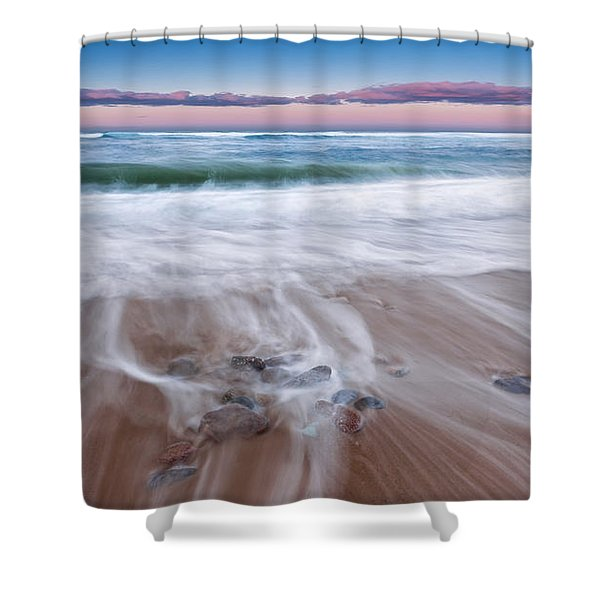 Chatham Sunset Shower Curtain by Bill  Wakeley