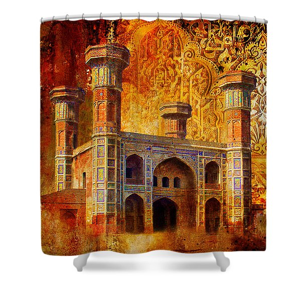 Chauburji Gate Shower Curtain by Catf