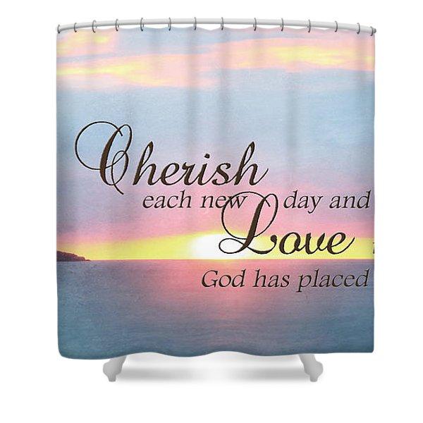 Cherish Love Shower Curtain by Lori Deiter