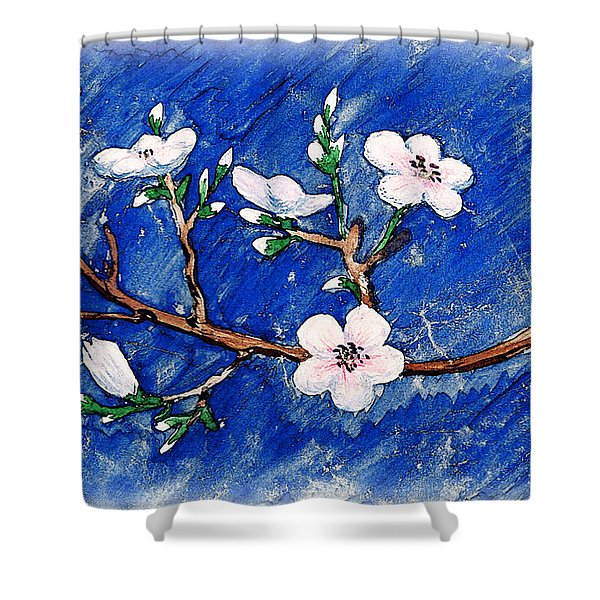 Cherry Blossoms Shower Curtain by Irina Sztukowski