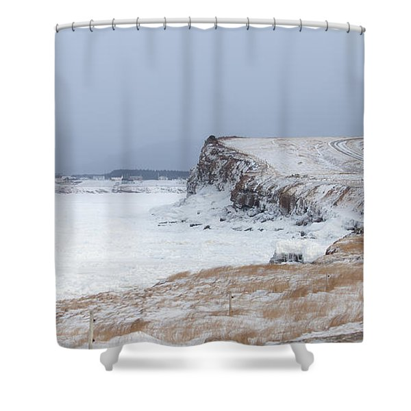 Cheticamp Harbour Entrance Shower Curtain by Michel Soucy