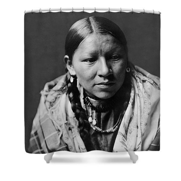 Cheyenne young woman circa 1910 Shower Curtain by Aged Pixel