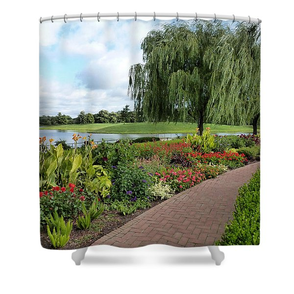 Chicago Botanical Gardens - 96 Shower Curtain by Ely Arsha