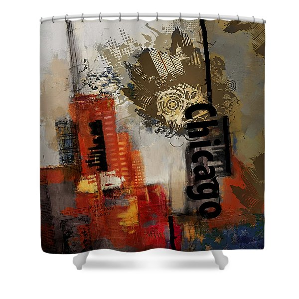 Chicago Collage Shower Curtain by Corporate Art Task Force