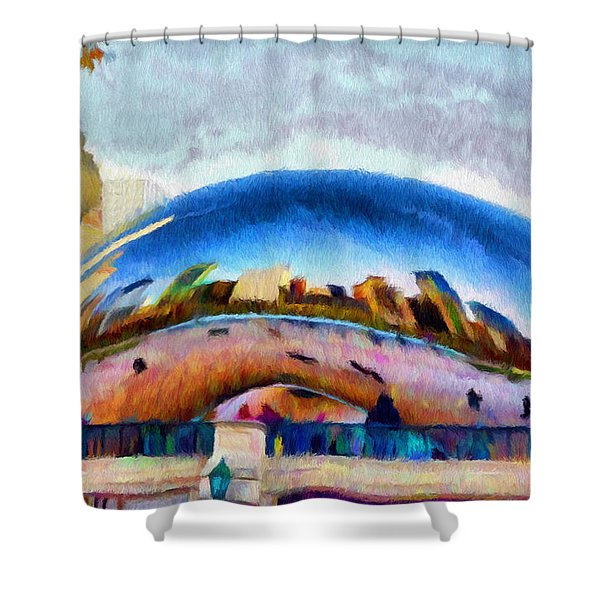 Chicago Reflected Shower Curtain by Jeff Kolker