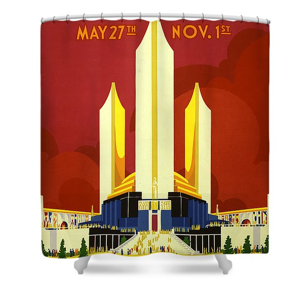 Chicago World's Fair Shower Curtain by Nomad Art And  Design