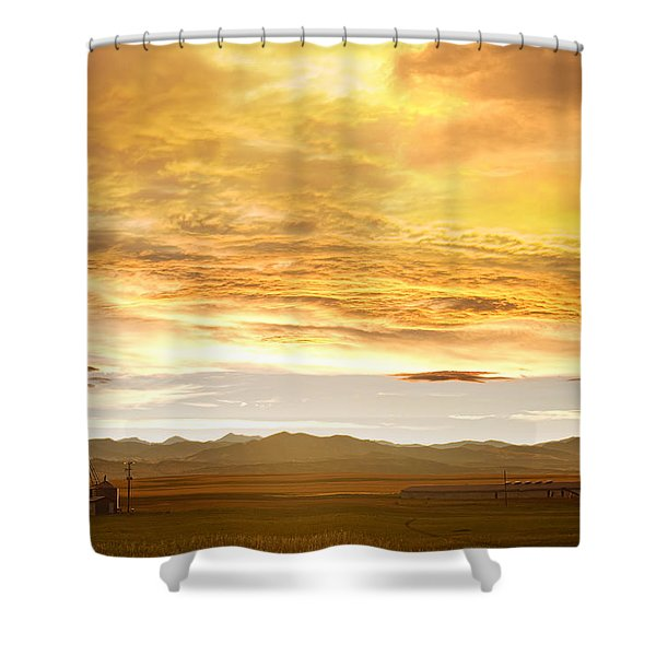 Chicken Farm Sunset 2 Shower Curtain by James BO  Insogna