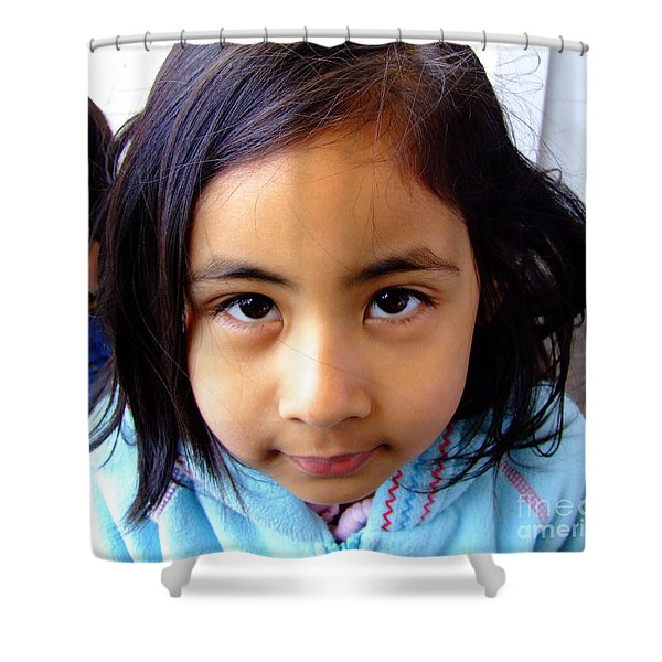 Child Shower Curtain by Andrea Anderegg