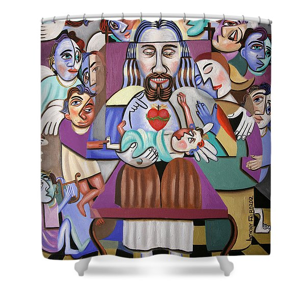 Childern A Gift From God Shower Curtain by Anthony Falbo
