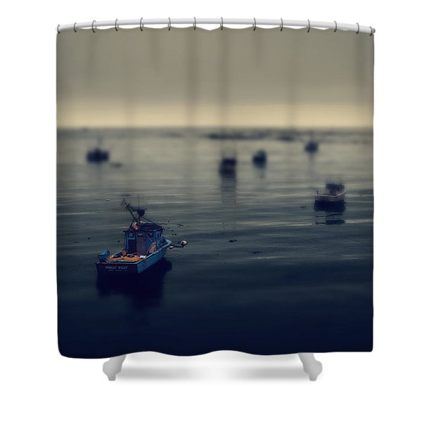 Chilly Willy Shower Curtain by Laurie Search