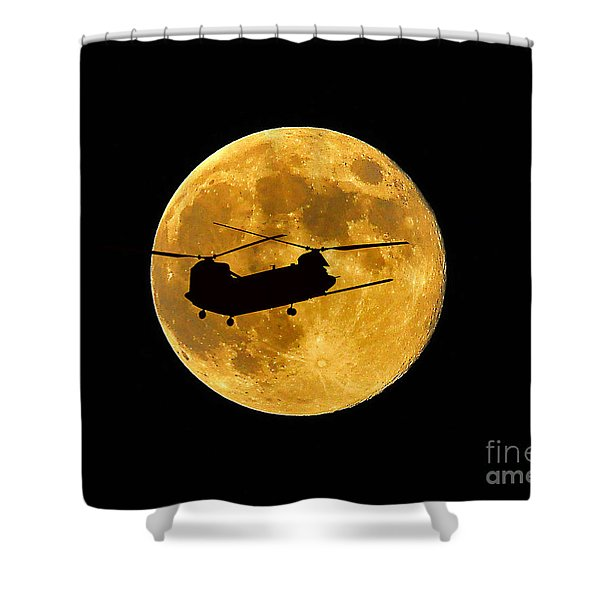 Chinook Moon Color Shower Curtain by Al Powell Photography USA