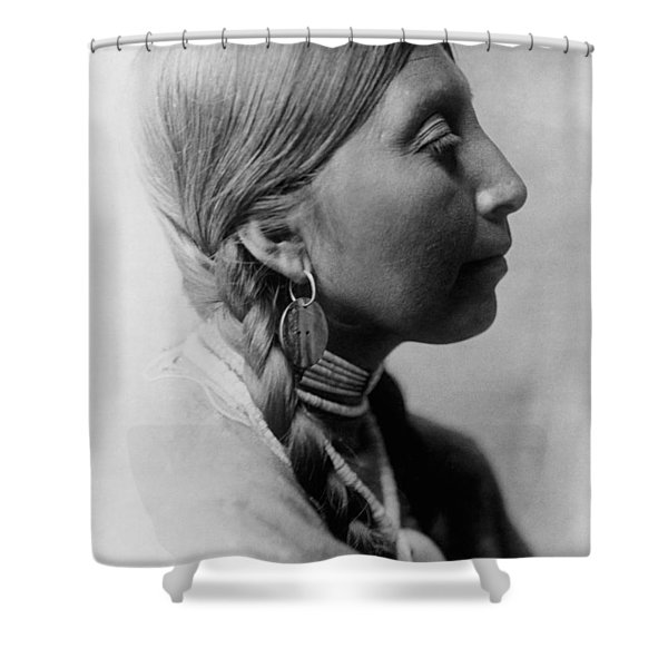 Chinookan indian woman circa 1910 Shower Curtain by Aged Pixel