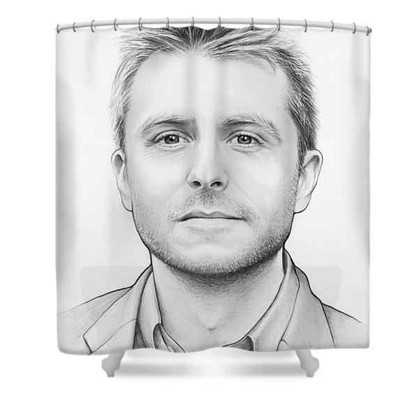 Chris Hardwick Shower Curtain by Olga Shvartsur