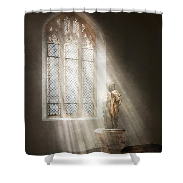Christian - Heavenly Father Shower Curtain by Mike Savad