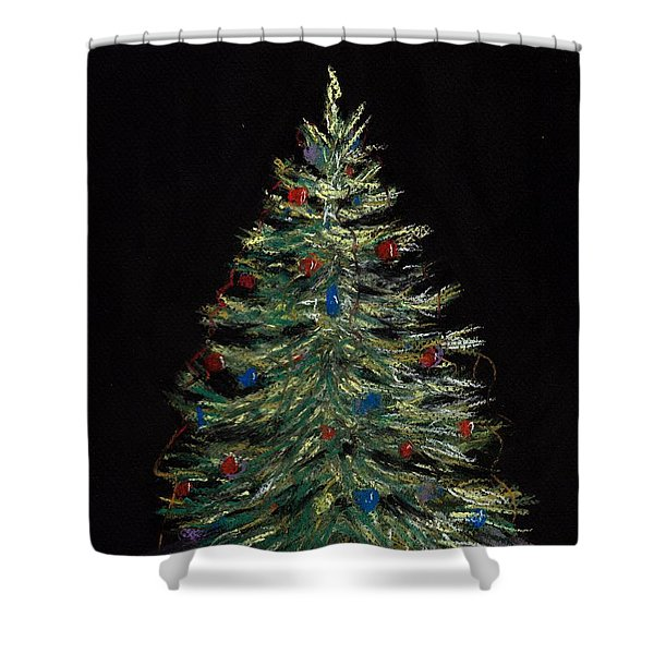 Christmas Eve Shower Curtain by Anastasiya Malakhova