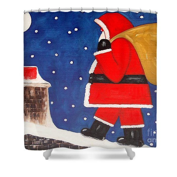Christmas Eve Shower Curtain by Patrick J Murphy