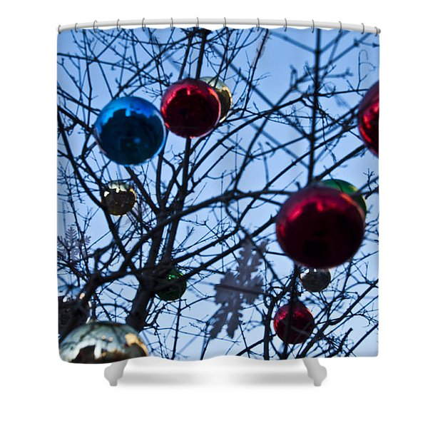 Christmas Is Looking Up This Year Shower Curtain by Bill Cannon