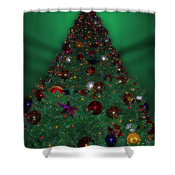 Christmas Tree Shower Curtain by Thomas Woolworth