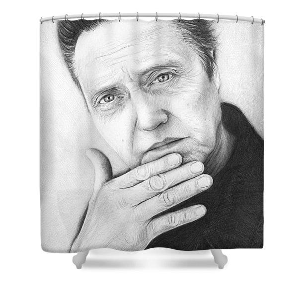Christopher Walken Shower Curtain by Olga Shvartsur