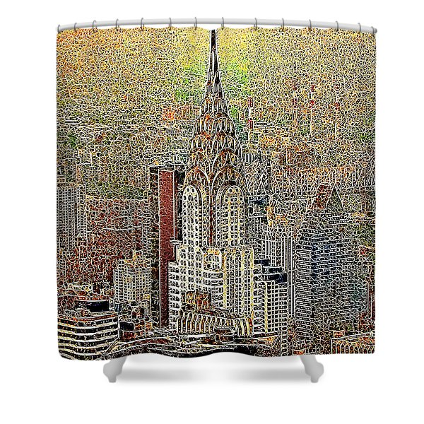 Chrysler Building New York City 20130425 Shower Curtain by Wingsdomain Art and Photography