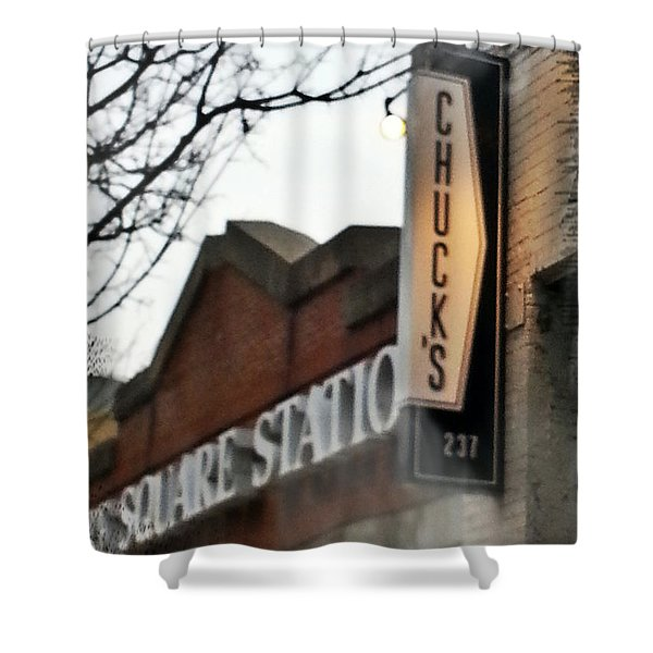 Chuck's Raleigh Shower Curtain by Paulette B Wright