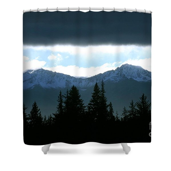 Chugach Mountains Shower Curtain by Crystal Magee