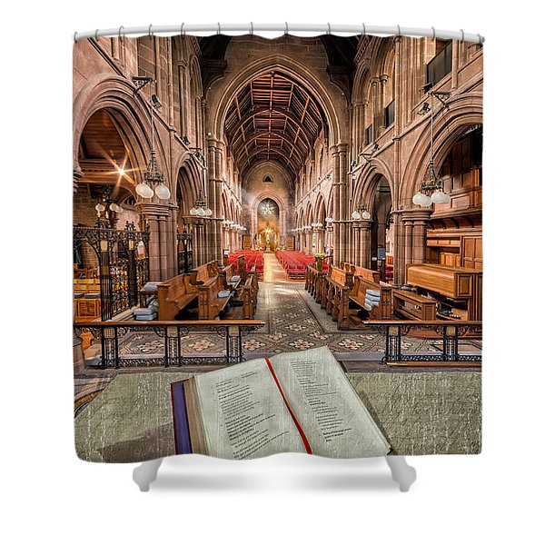 Church Bible Shower Curtain by Adrian Evans