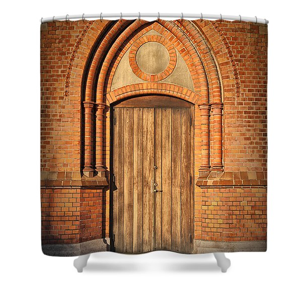Church Door Helsingborg Shower Curtain by Antony McAulay